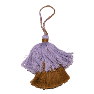 Intiearth Cotton Tassel lavender and rust