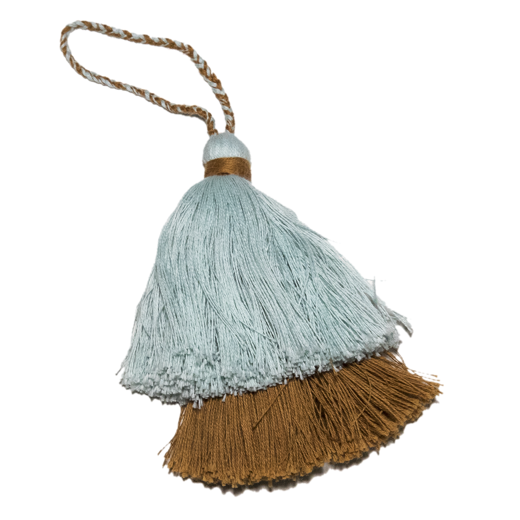 Intiearth Cotton Tassel blue and rust