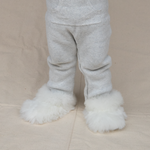 Intiearth classic childrens alpaca slipper white
