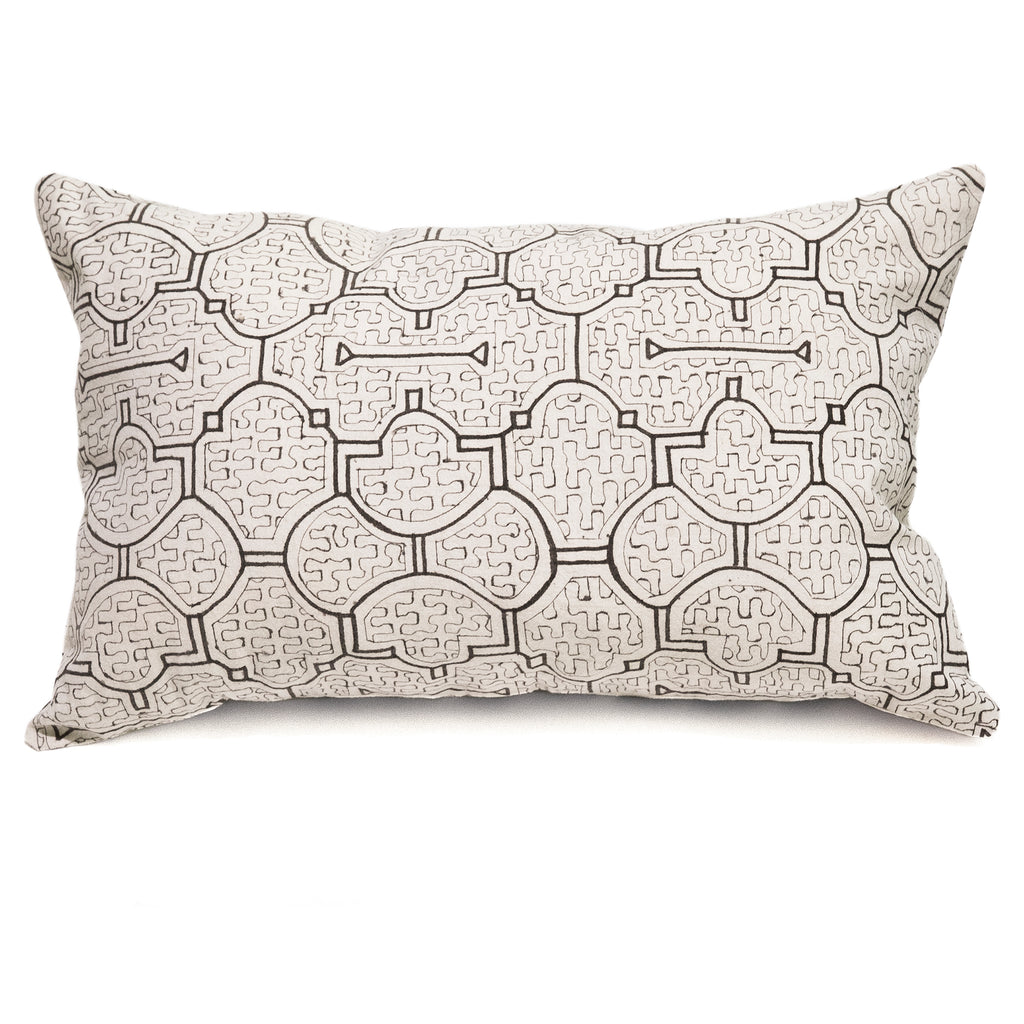 Intiearth Cotton Shipibo Print Lumbar Pillow