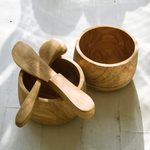 Intiearth Olive Wood spoon and butter knife