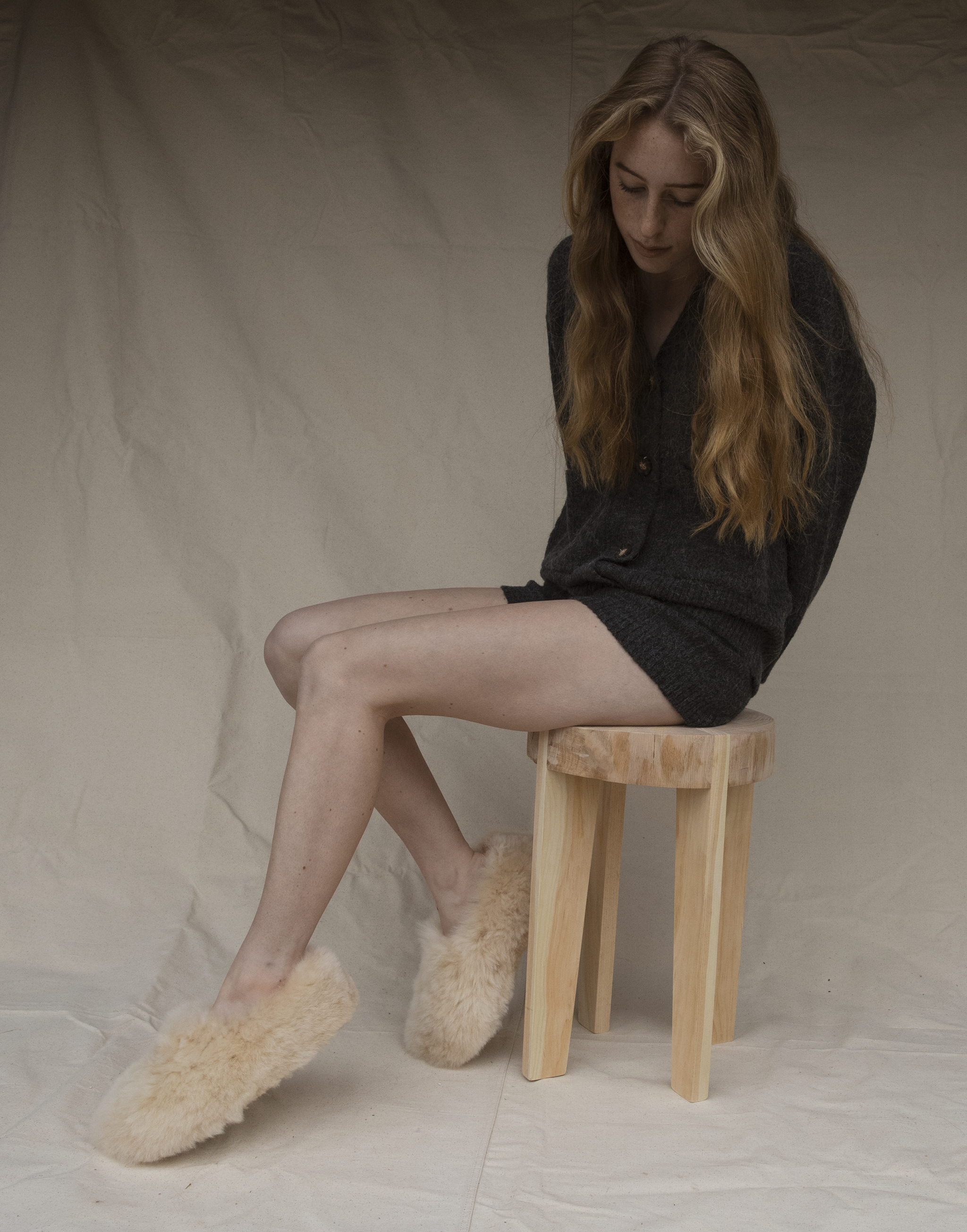 Intiearth cozy womens alpaca fur slipper