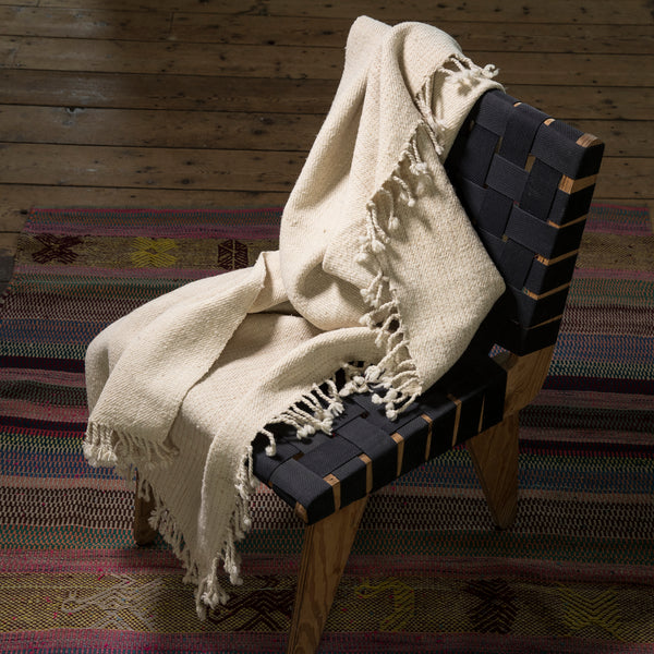 Namora wool throw and shawl hand spun and hand woven