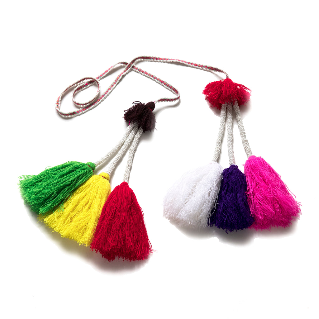 Intiearth beaded decorative tassel