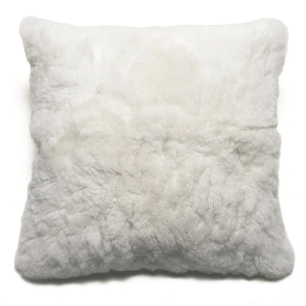 Intiearth Alpaca fur pillow Andes white