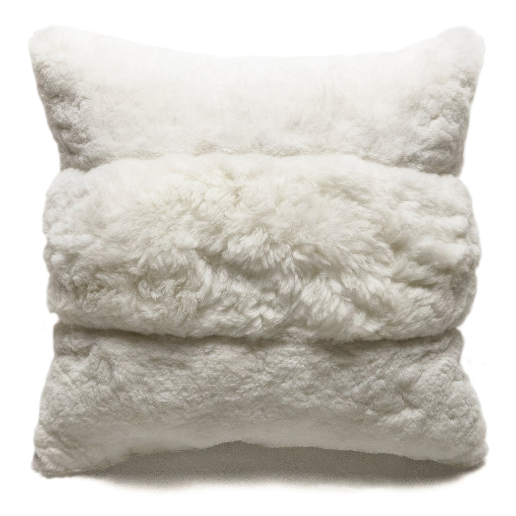 Center Stripe Alpaca Pillow