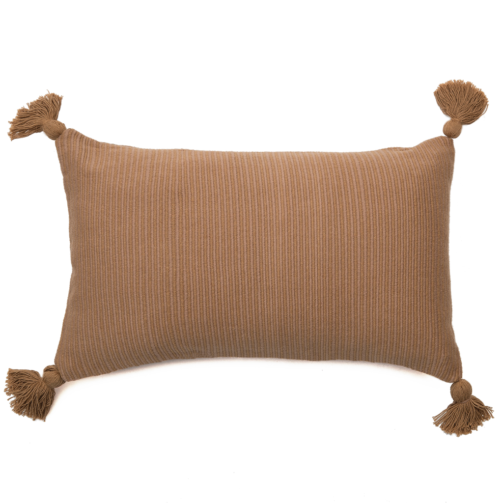 Intiearth Native Cotton Lumbar Pillow beige and ecru