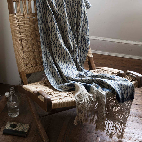 Intiearth Natural Peruvian Ikat Throw Shawl