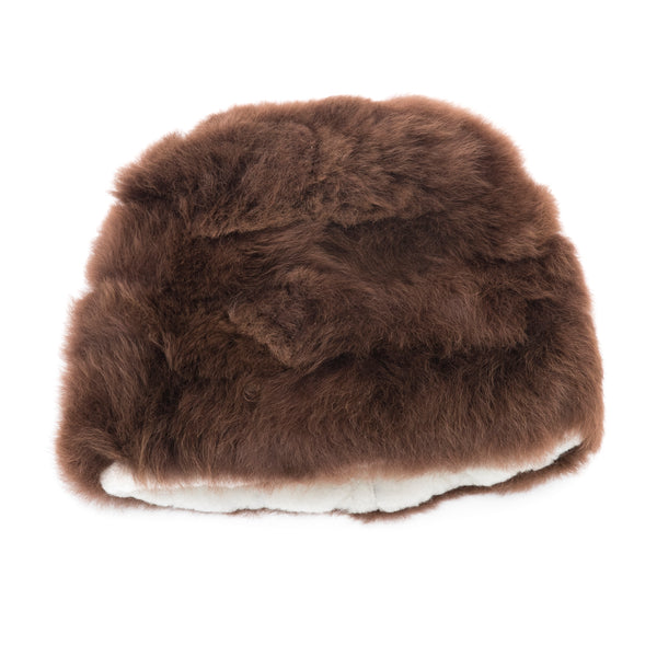Intiearth baby alpaca retro fur hat brown