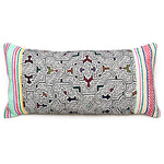 Intiearth shipibo lumbar pillow hand embroidered