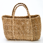 Inea straw basket with braid detail