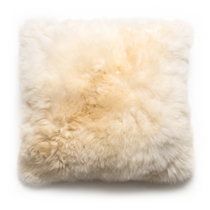 Intiearth alpaca fur pillow cream square