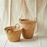 Intiearth handwoven totora basket small and medium