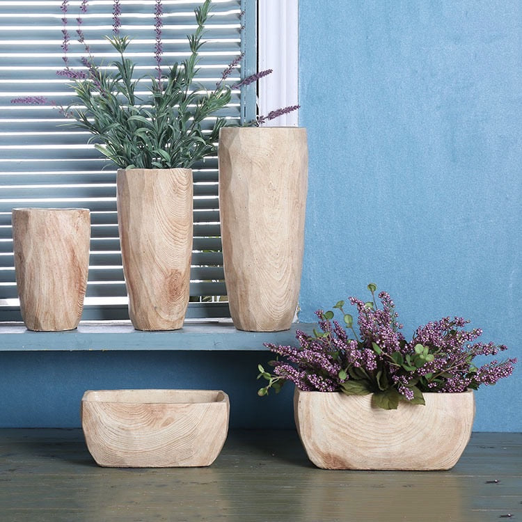 Faux Wooden Planter