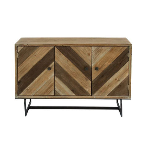 Chevron Wood Cabinet