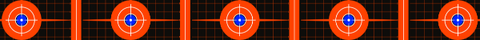 Red shooting targets