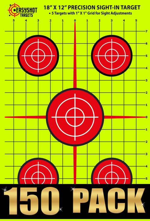 "150-PACK ""SUPER-SAVER"" 18 X 12 INCH Precision Sight-in Targets with 1x1 inch Grid 