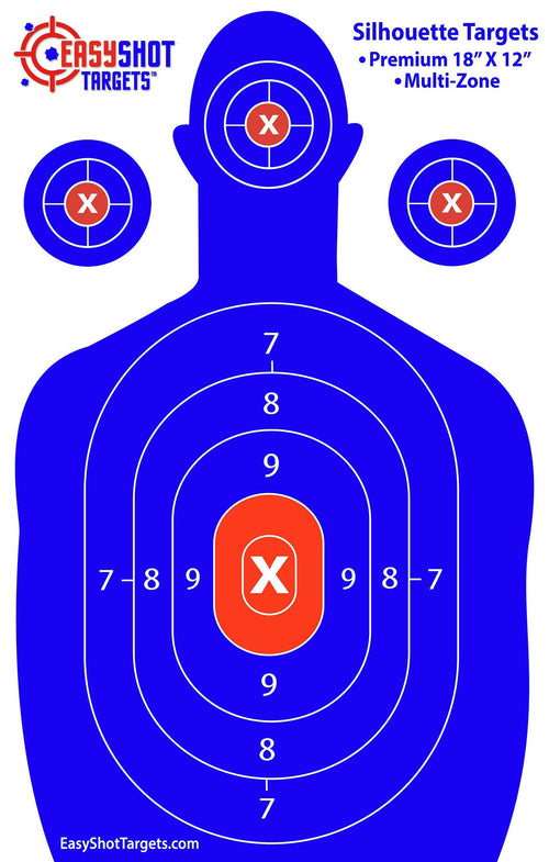 """200-PACK SUPER SAVER"" - Blue Silhouette Targets 18"" X 12"""