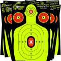 150-PACK NEON YELLOW EASYSHOT SHOOTING TARGETS - High-Contrasting Yellow & Red Colors Make it Easy to See Your Shots Land