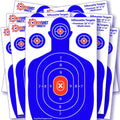 EasyShot 100-Pack Premium Shooting Targets - 25 Sheets of Each Color: Fluorescent Orange, Neon Green, Electric Blue and Neon Yellow. Easy to See Your Shots Land, Heavy-Duty Silhouette Paper Sheets…
