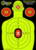 "400-PACK ""SUPER-SAVER"" BULK SHOOTING TARGETS (STOCK UP AND SAVE) 100 Sheets of Each Color: Neon Green, Neon Yellow, Electric Blue and Fluorescent Orange."