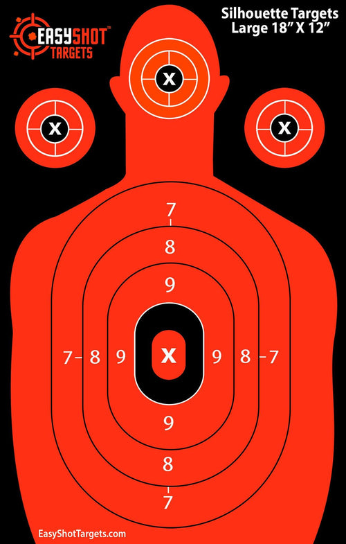 """105-PACK SUPER SAVER"" - Orange Silhouette Targets 18"" x 12"""