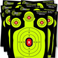 50-PACK EASYSHOT SHOOTING TARGETS - Neon Yellow & Red Colors Make it Easy to See Your Shots Land - THICKER, BRIGHTER & BEST QUALITY GUARANTEED