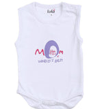 Lula Baby Girls Mom White Bodysuit