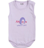 Lula Baby Girls Purple Bodysuit