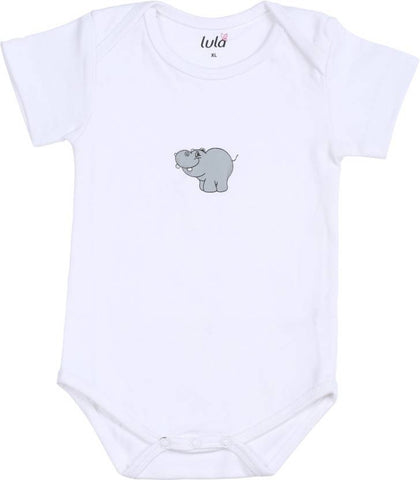 Lula Baby Boys White Bodysuit