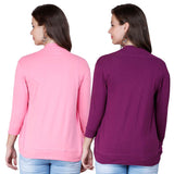 Zalula Young Girl's Lycra Shrug Pack of 2