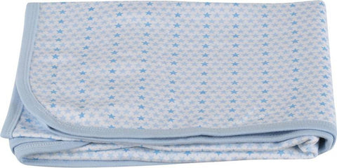 Colorfly Printed Double Blanket Blue
