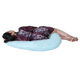 Lula Mom Solid Pregnancy Pillow  (Pack of 1, Blue Tint)