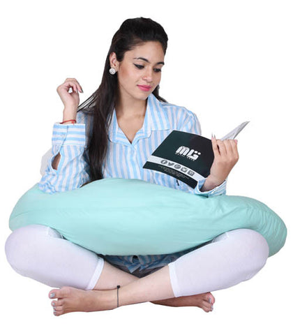 Lula Mom Solid Pregnancy Pillow  (Pack of 1, Mint Green)