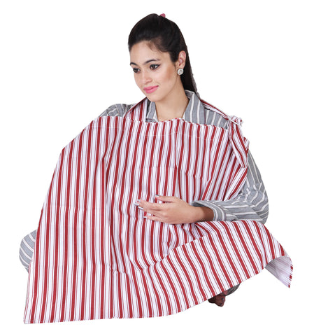 Lula Mom Red striped Nursing cover