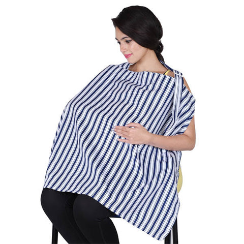Lula Mom Blue Printed Nursing cover