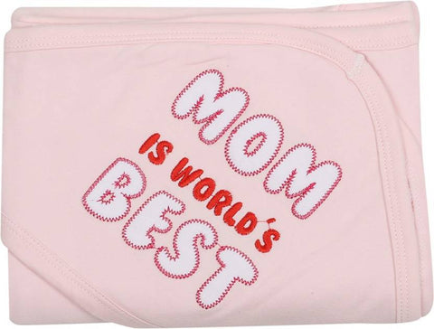 Lula Embroidered Double Hooded Baby Blanket Pink