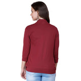 zalula Young Girl's Lycra Maroon Color Shrug