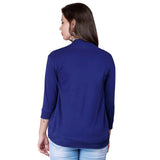 zalula Young Girl's Lycra Navy Color Shrug