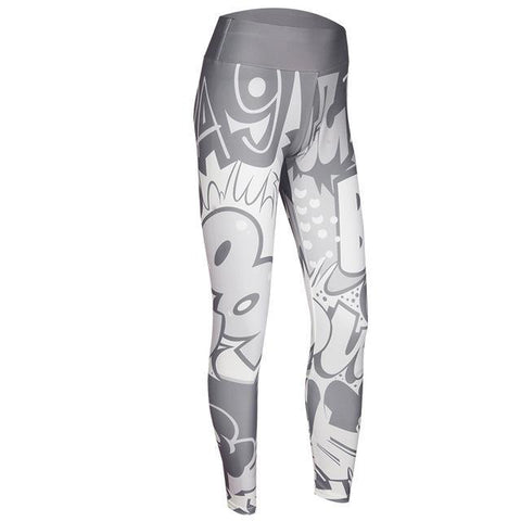 Loyally Elegant fitness leggings Light Gray / S Comic Con High Waist Push Up Leggings