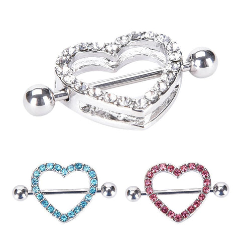 1pc. Love Hearts Nipple Ring