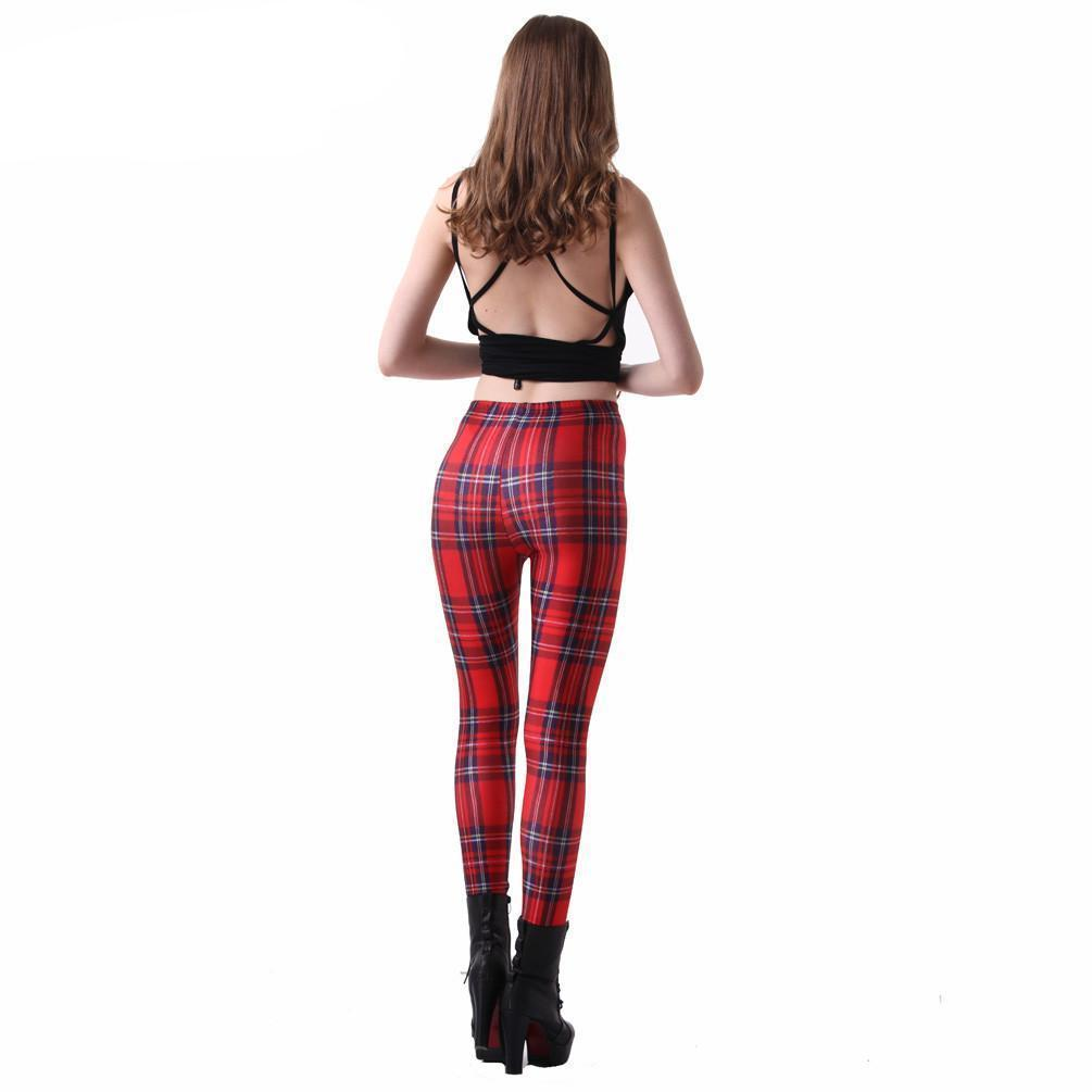 05f55bf008a13 Tartan Red Plaid Leggings | Loyally Elegant