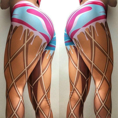 Icecream Fitness Yoga Leggings