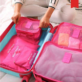 Waterproof 6pc Travel Storage Bag Organizer
