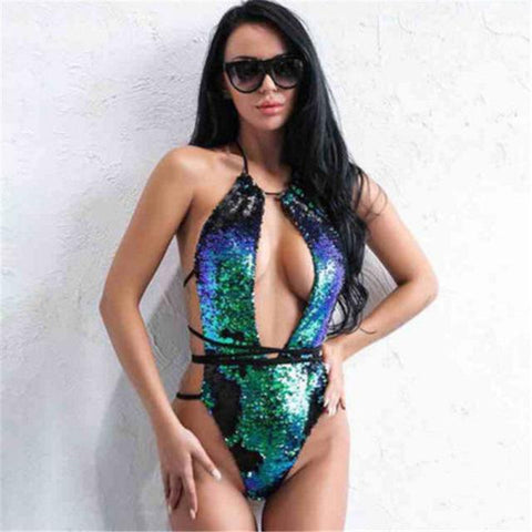 Loyally Elegant swimsuit multicolor / S Color Changing Sequin Swimsuit Bikini