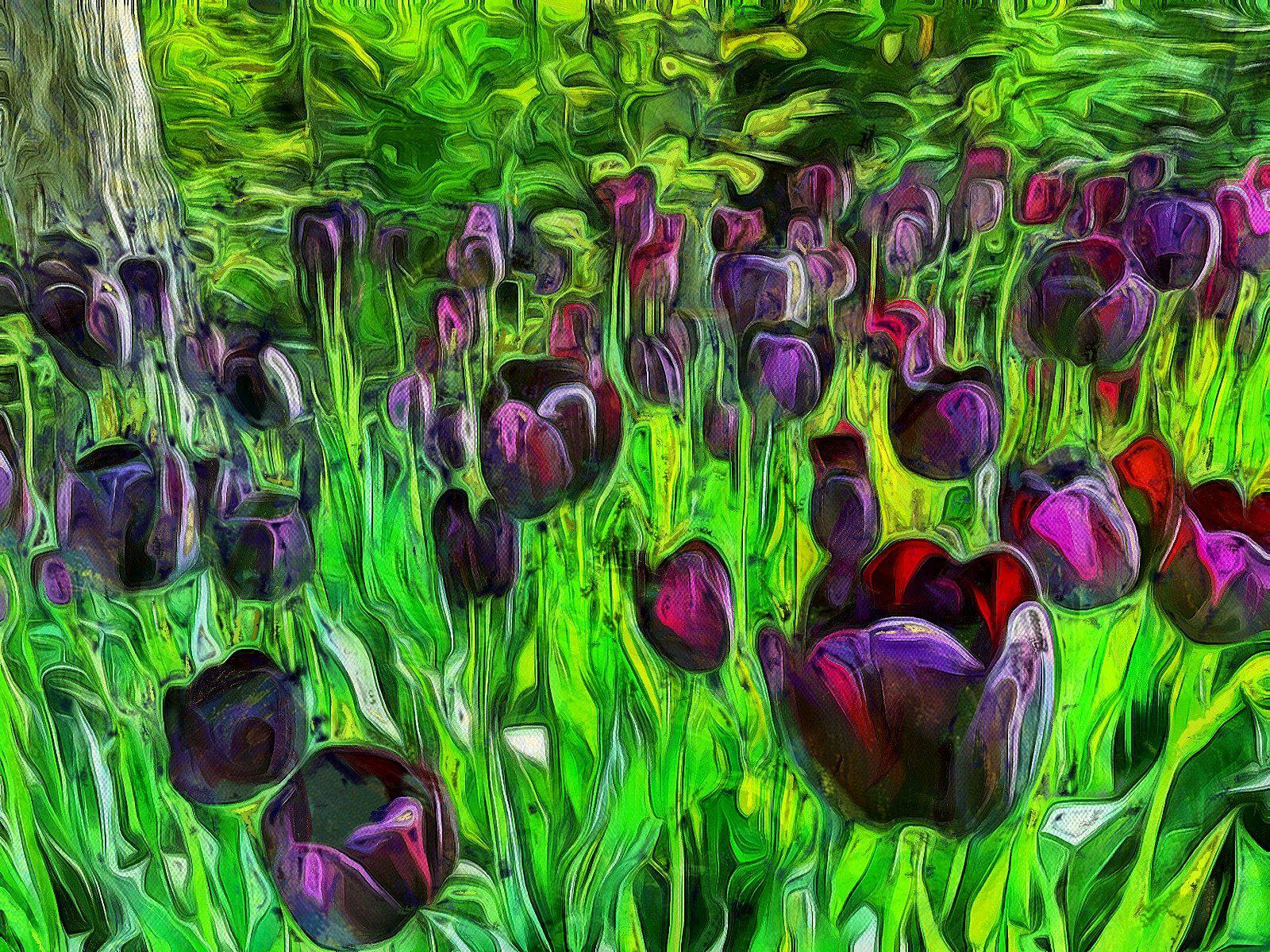 Black Tulips - Art Inspired by Vincent van Gogh