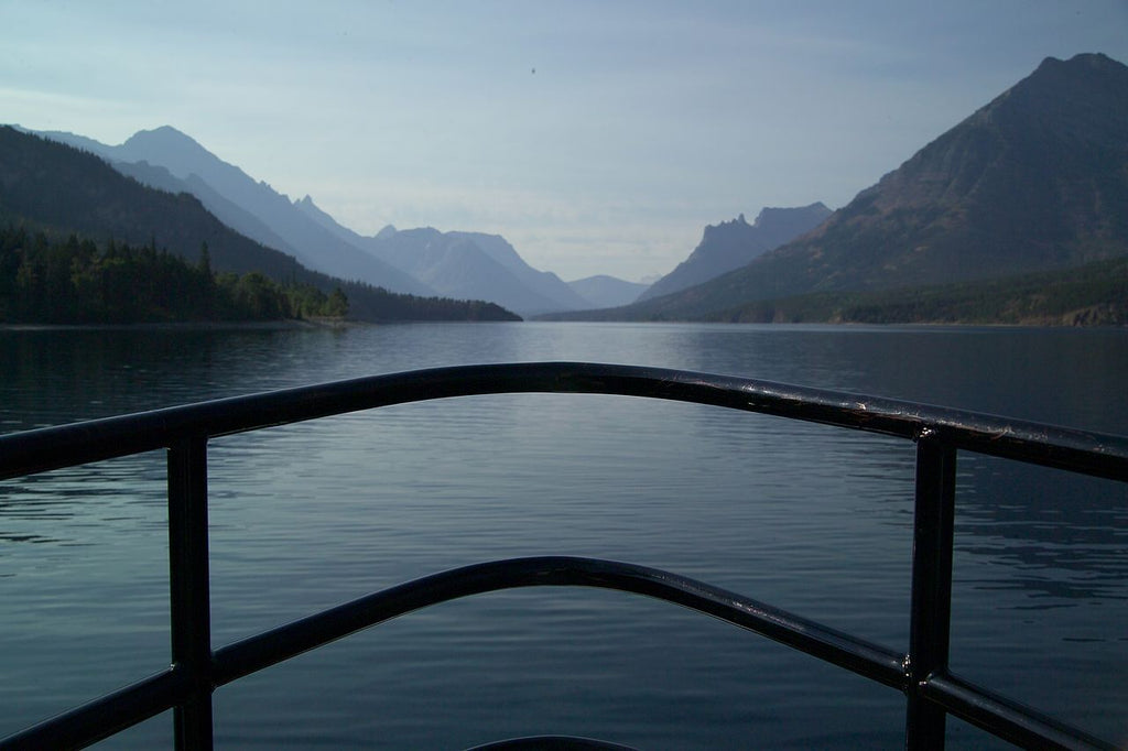 Boating Through Glacier National Park, Montana - Art 4 Charities, LLC