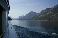 Boating To Goat Haunt, Montana