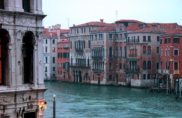Buildings Along Canal, Venice, Italy