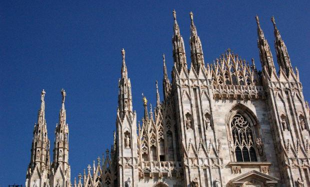 Cathedral with Blue Sky, Italy